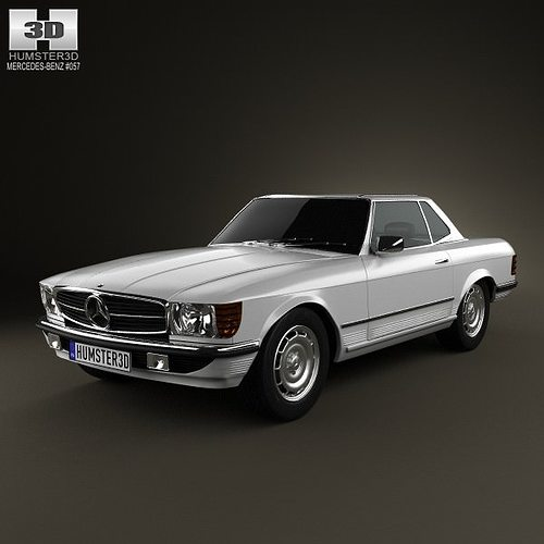 3d mercedes benz sl class r107 coupe 1972 cgtrader. Black Bedroom Furniture Sets. Home Design Ideas