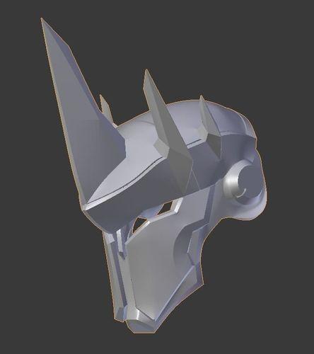 overwatch reinhardt helmet 3d model stl 1