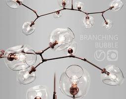 Branching bubble 8 lamps CLEAR COPPER 3D model