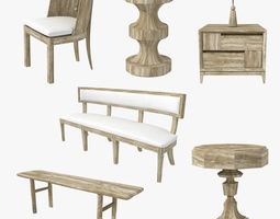 3D model Custom made wood furniture