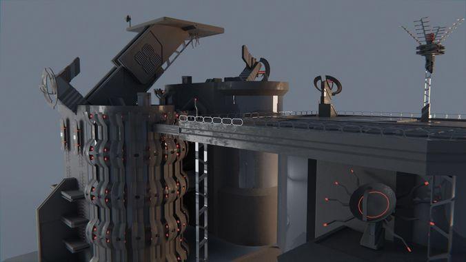sci-fi kit bash elements 3d model obj mtl 3ds fbx stl blend 1