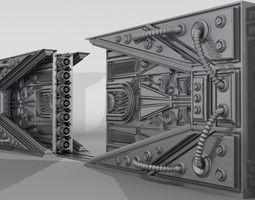 METAL DOOR SCI-FI 3D model