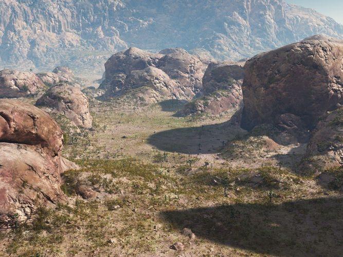 rocky terrain in vue 3d model vue 1
