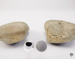 River rock 001 - Photogrammetry 3D model
