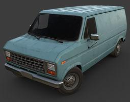 3D model game-ready Old Van