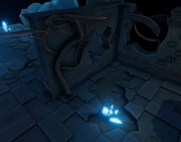 Dungeon lv-1 For Unity3d VR / AR ready