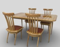 3D asset realtime Dining Table