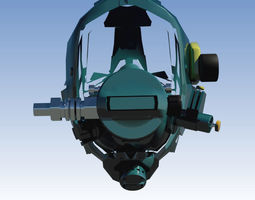 3D model Full face diving mask