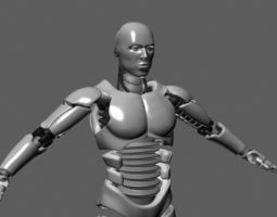 ROBOT MALE UNFINISHED 3D model