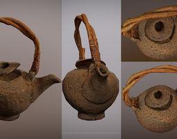 3D model photorealistic japanese style tea pot