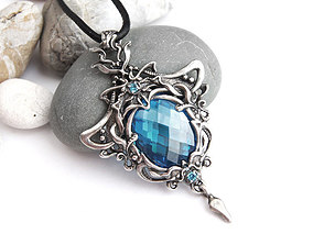 obj Stone pendant necklace printable jewelry model