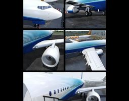 Boeing 737-800 With Cockpit and Interior 3D