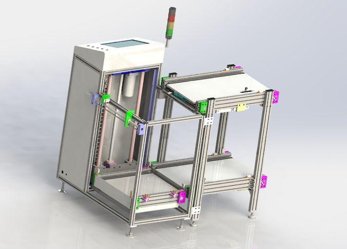 double cent  lifter  of assembly line 3d model max obj mtl 3ds fbx stl sldprt sldasm slddrw 1