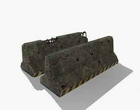 Concrete Roadblock 3D asset