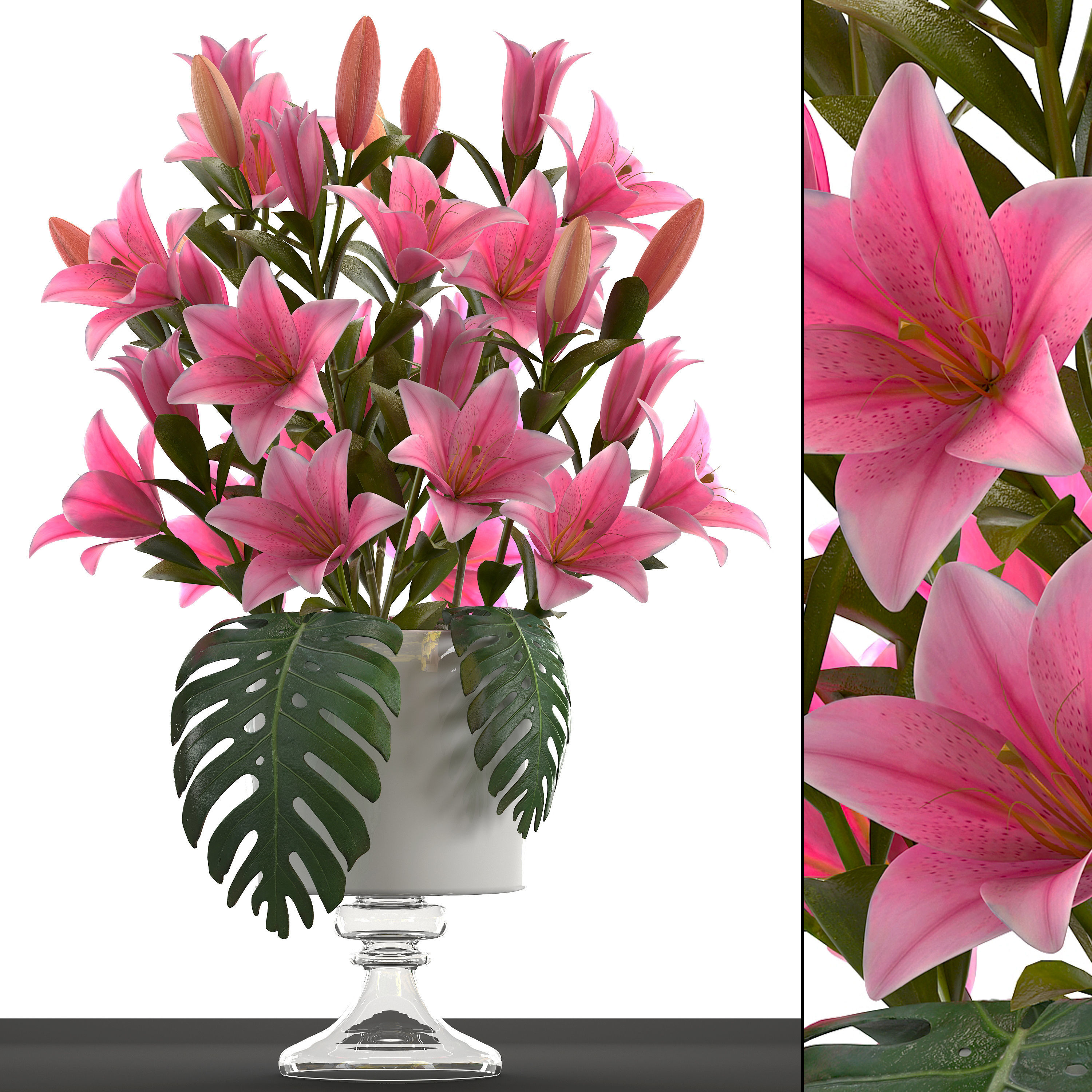 3d model bouquet of pink lilies cgtrader bouquet of pink lilies 3d model max obj mtl fbx 1 izmirmasajfo