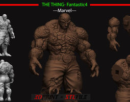 The Thing - Fantastic Four - Marvel 3D printable model