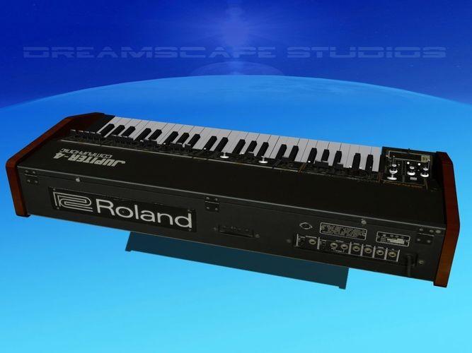 roland jupiter 4 synthesizer 3d model max obj mtl 3ds lwo lw lws dxf stl 1