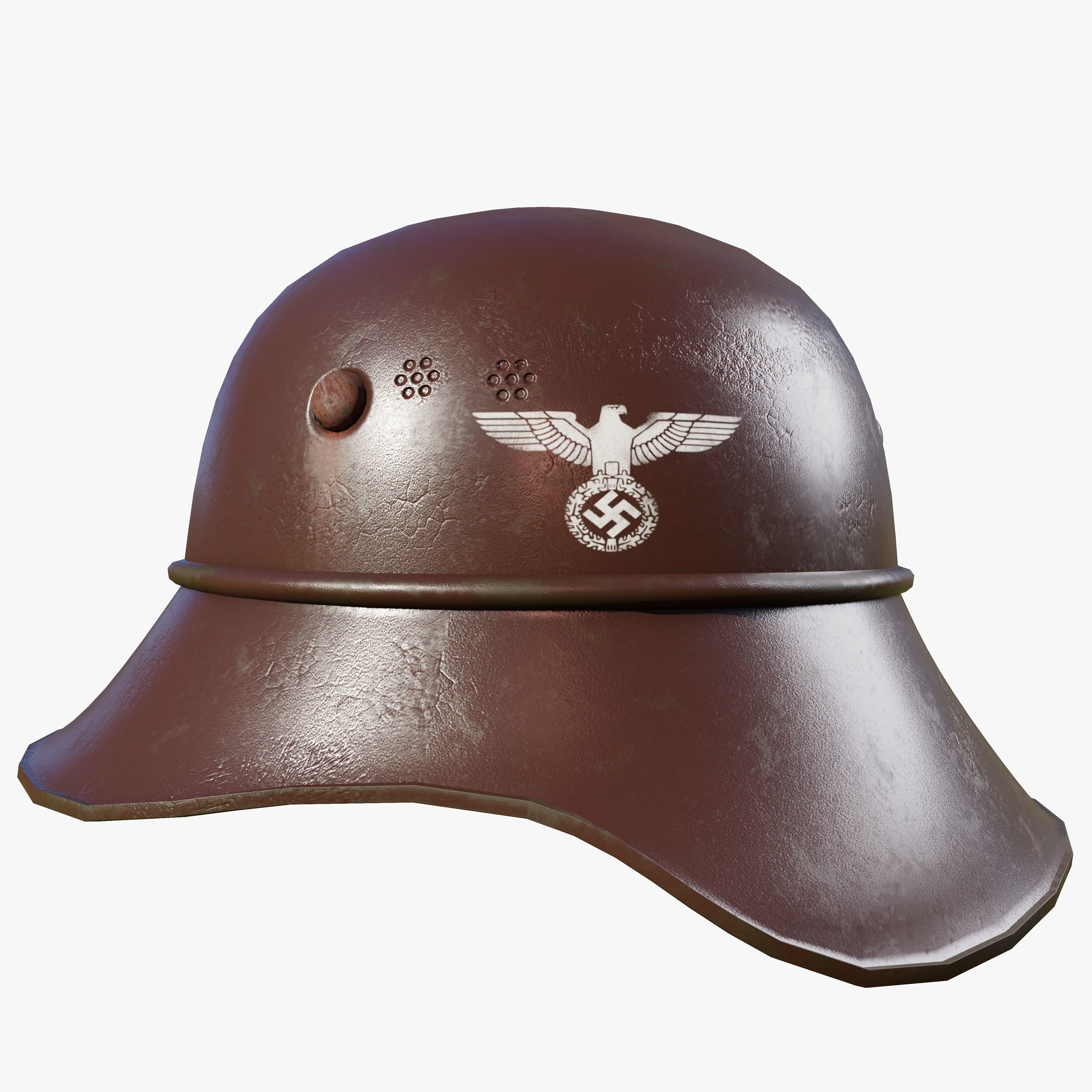 WW2 German Helmet - Low Poly   3D model