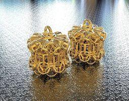 bro woven cylinder earring 3d printable model