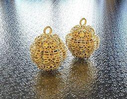 bro woven sphere earring  3d print model