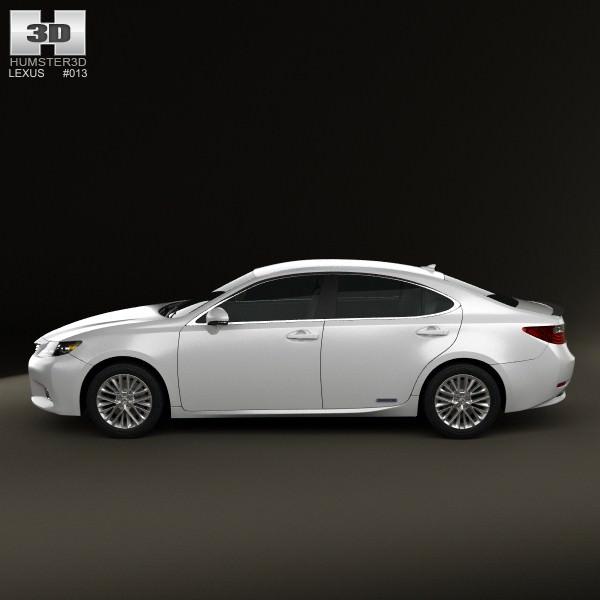 2013 Lexus Es Interior: Lexus ES Hybrid XV50 2013 3D Model MAX OBJ 3DS FBX C4D LWO