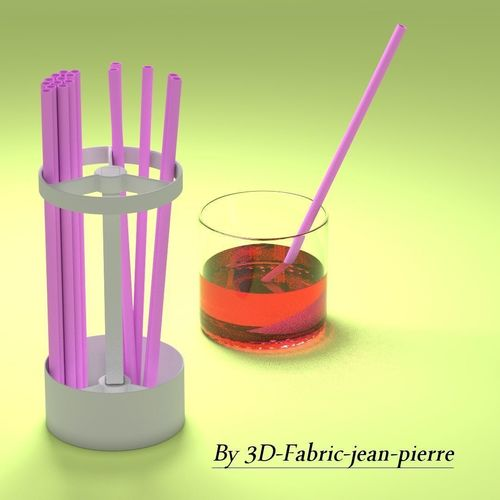 straw holder 3d model obj mtl stl blend 1