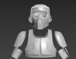 3D print model Star Wars imperial Scout Trooper Biker 1