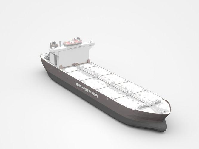 huge grey freight ship 3d model max obj mtl 3ds c4d lwo lw lws ma mb 1