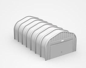3D model Small Industrial Hangar