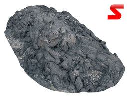 Lava Rock scan 16K 3D model