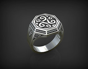 Ring with Triskelion 1 3D printable model