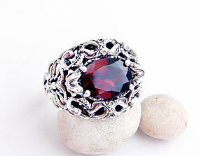 Ring with an oval stone printable jewelry model