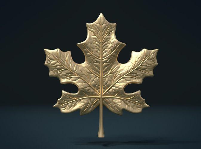 maple leaf 3d model obj mtl 3ds fbx stl blend dae 1