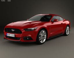 3D mustang Ford Mustang GT with HQ interior 2015