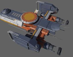 cargo spacecraft 3D