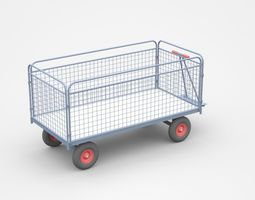 structure Empty Enclosed Container Cart 3D