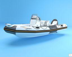3D Zodiac Boat pro open 550