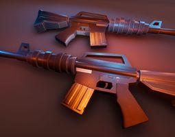 3D asset Stylized M4A1