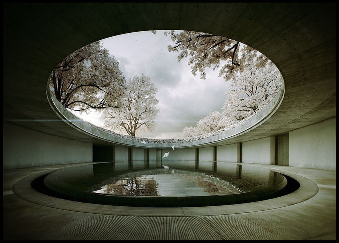 tadao ando -naoshima art museum - the third and the seventh 3d m 3d model animated max 1