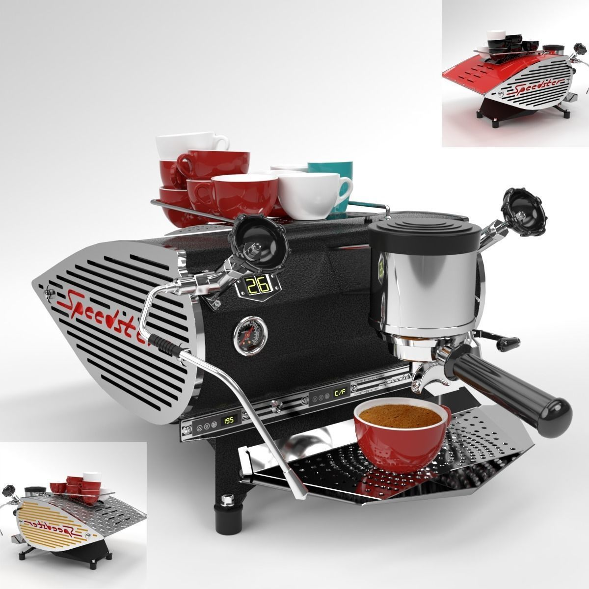 Kees Van Der Westen Coffee Machine Sdster Blender Cycles Model Obj Mtl Fbx Blend 1