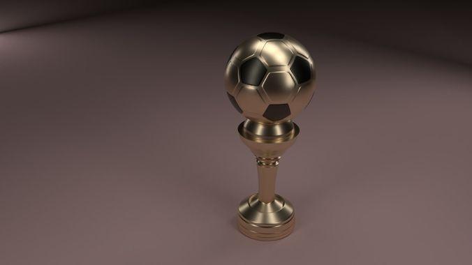 soccer cup 3d model obj mtl fbx stl blend x3d ply 1