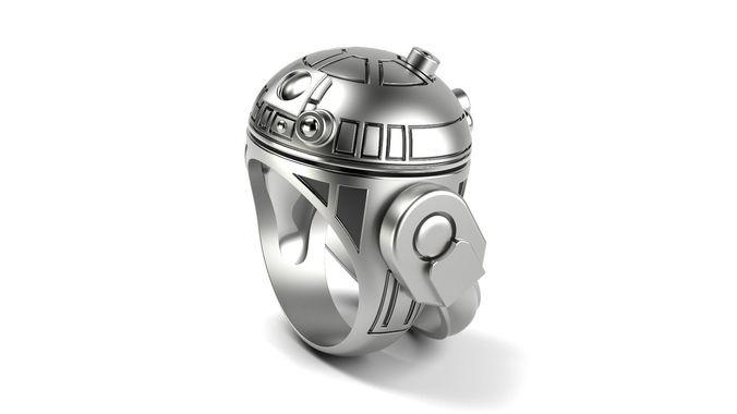 r2 d2 droid ring 3d model stl 1