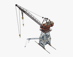 Port Crane 3D model low-poly