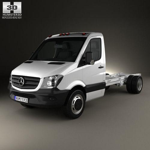 mercedes-benz sprinter single cab chassis lwb 2013 3d model max obj mtl 3ds fbx c4d lwo lw lws 1