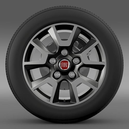 Fiat Ducato Panorama wheel 3D model | CGTrader