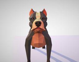 3D model animated Pitbull