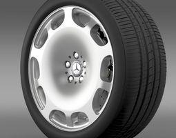 3d model mercedes maybach wheel