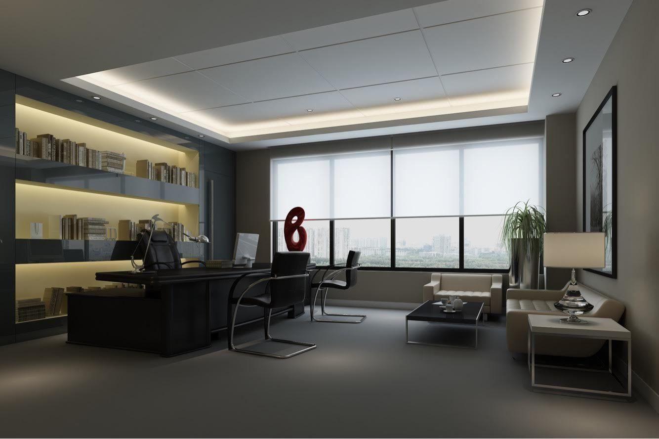 full modern office room scene