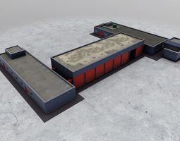 EGKK Fire Station 3D asset