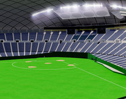 3D model Sapporo Dome - Japan